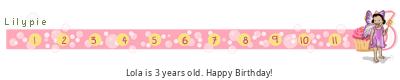 Lilypie Third Birthday (2VgK)