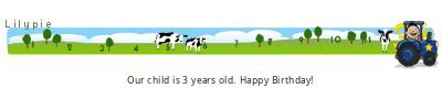 Lilypie Third Birthday (71LF)