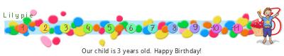 Lilypie Third Birthday (B2wQ)