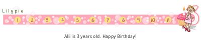 Lilypie Third Birthday (F2y4)