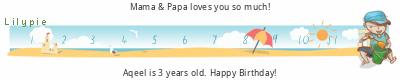 Lilypie Third Birthday (HPbr)