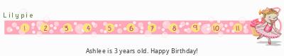 Lilypie Third Birthday (XXmv)