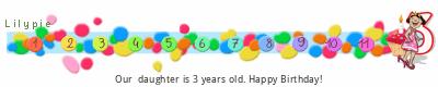 Lilypie Third Birthday (YdL0)