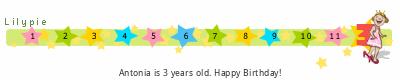 Lilypie Third Birthday (gihI)