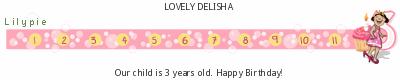 Lilypie Third Birthday (ip2T)
