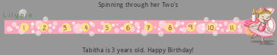 Lilypie Third Birthday ticker