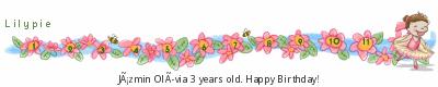 Lilypie harmadik születésnapi ticker